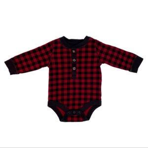 GAP Buffalo Plaid Onesie (Never Worn) 3-6M